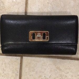 Michael Kors Black Pebbled Leather Large Wallet 😍